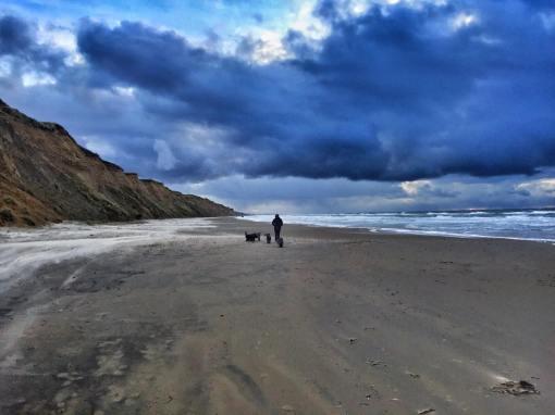 Skønt med stranden for os selv.